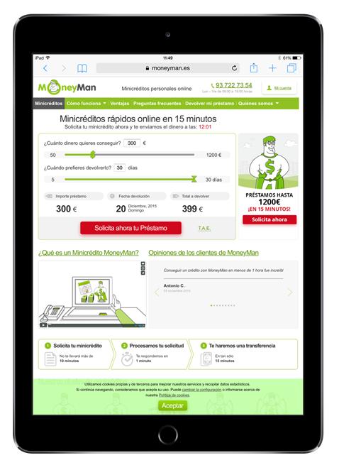 préstamos rápidos tablet iPad