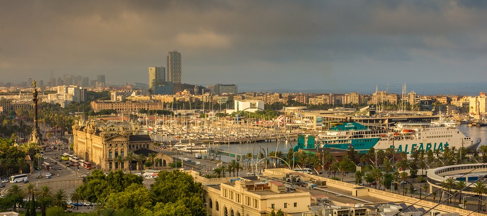 Barcelona vista puerto