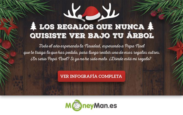 infografía Regalos Navidad Originales