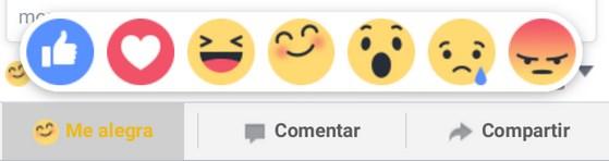 Botón Facebook reactions españa